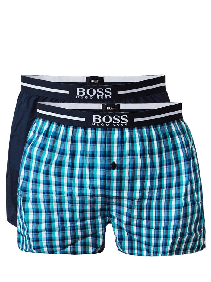 bb4a38a989 2-PACK for him  Boxerky Trenýrky HUGO BOSS 100% Cotton Woven Shorts  S
