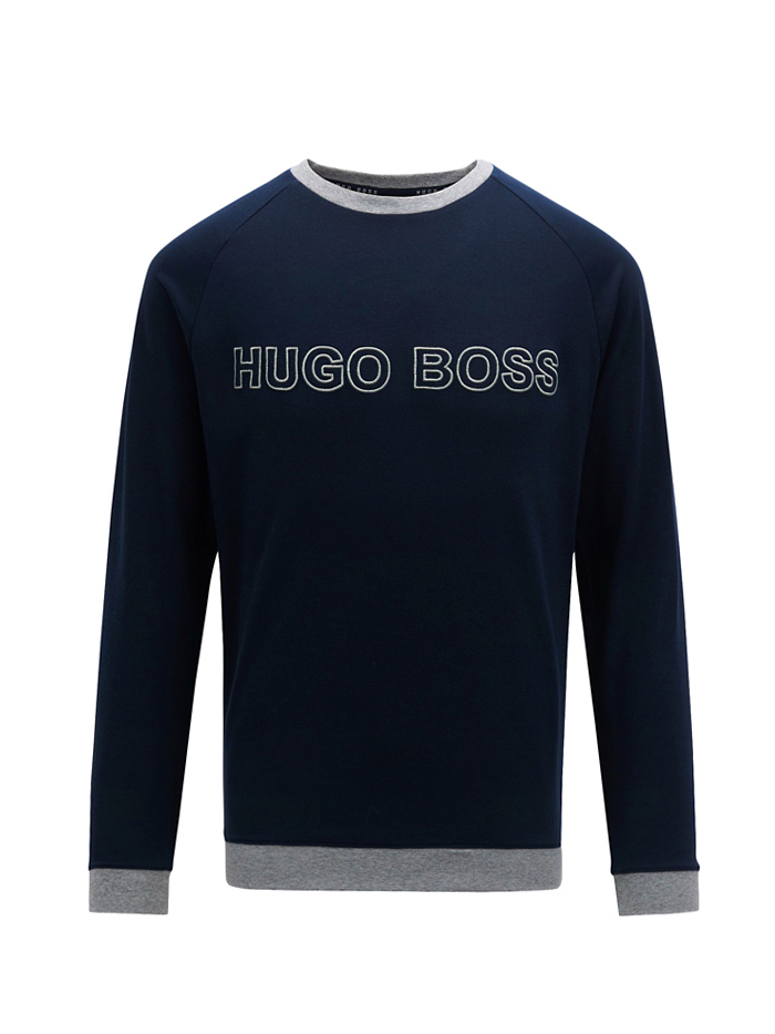 EXCLUSIVE! for him  Mikina HUGO BOSS Contemporary Logo Sweatshirt 100% Cotton  S 73b57240f3a